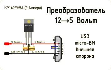 КРЕН 5в стабилизатор