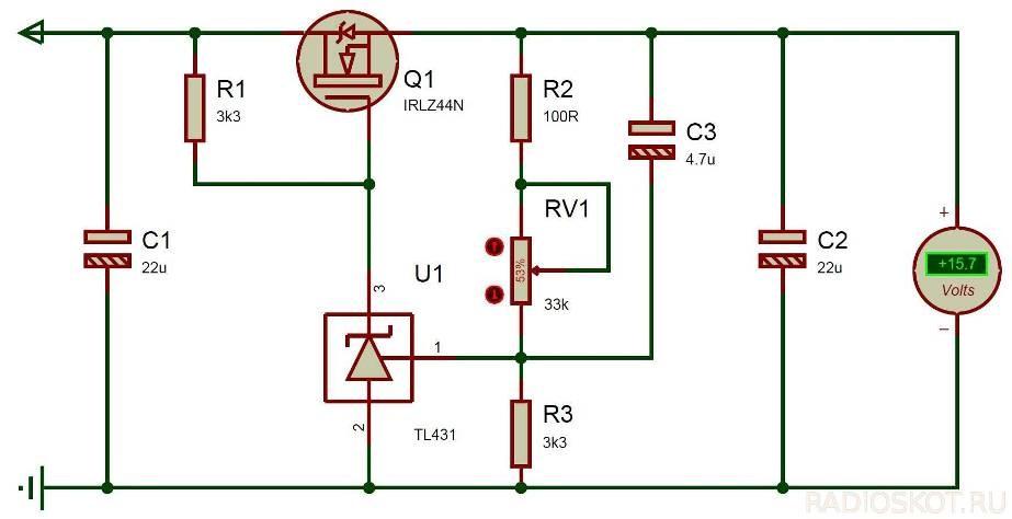 Регулятор напряжения на транзисторах своими руками